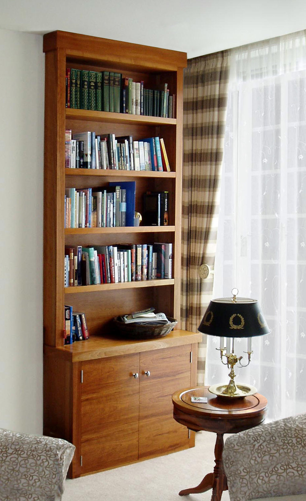 Bookcases in cherry wood, Midlothian.