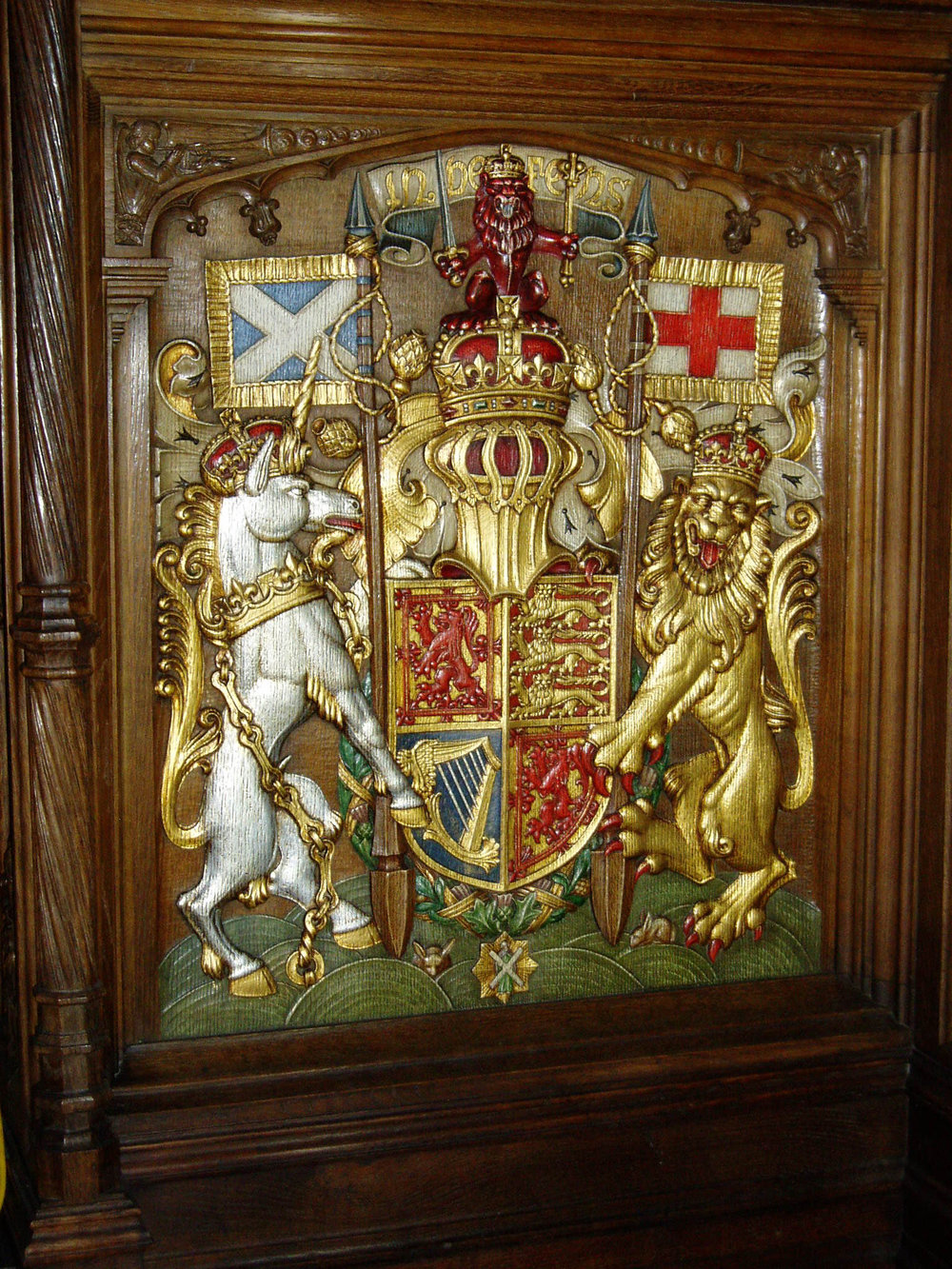 Extensive conservation works carried out on Thistle Chapel, St Giles Cathedral, Edinburgh.