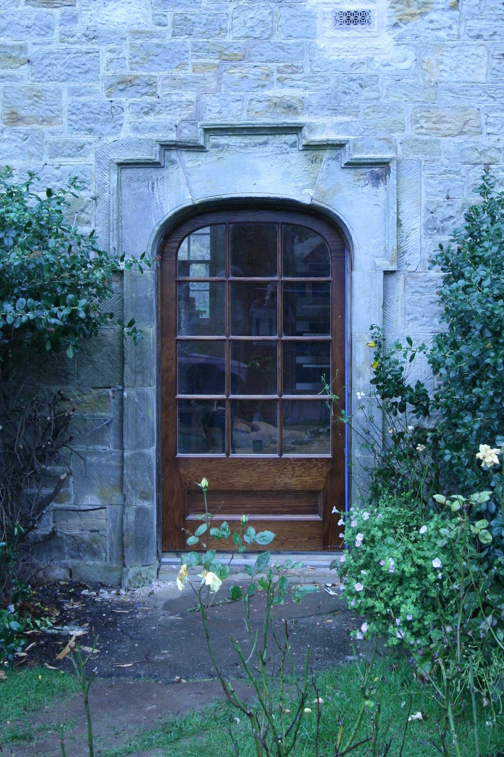 Bespoke exterior arched door for a historic house, Lothian.