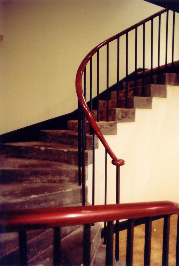 Edinburgh New Town basement staircase handrail.