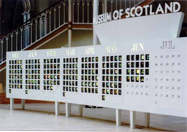 National Museum of Scotland, countdown devise for the opening of the new extension.