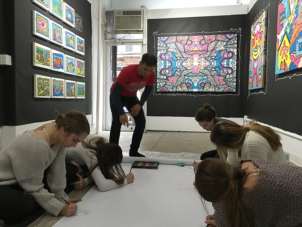 Creativity workshops with artist Chriss Reddy at Filo Sofi Arts in NYC
