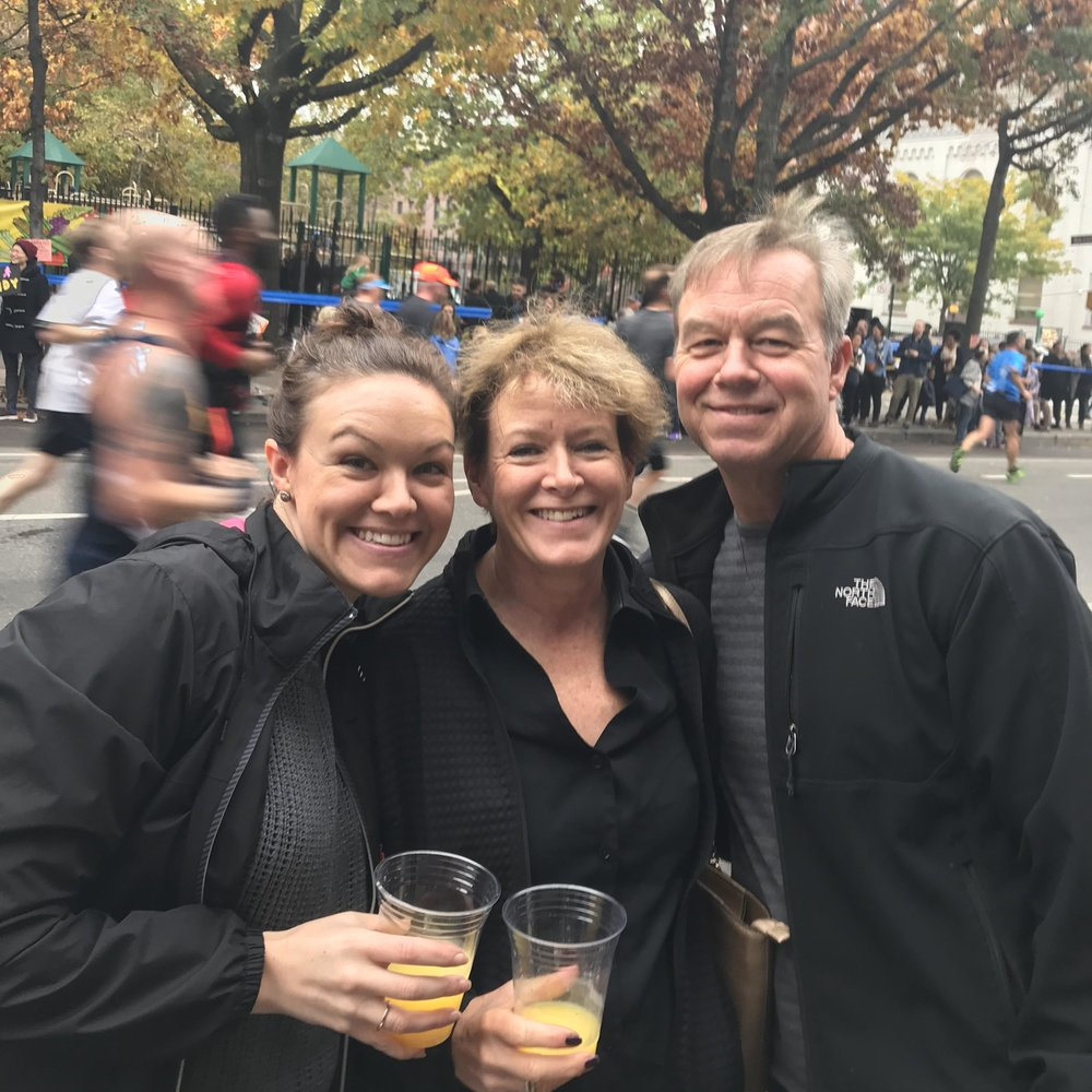 Ashley with our mom Teri and dad Gary, who demonstrate a hunger to sweat, laugh, cry, celebrate, seek new experiences alone and together that keep them young at heart.