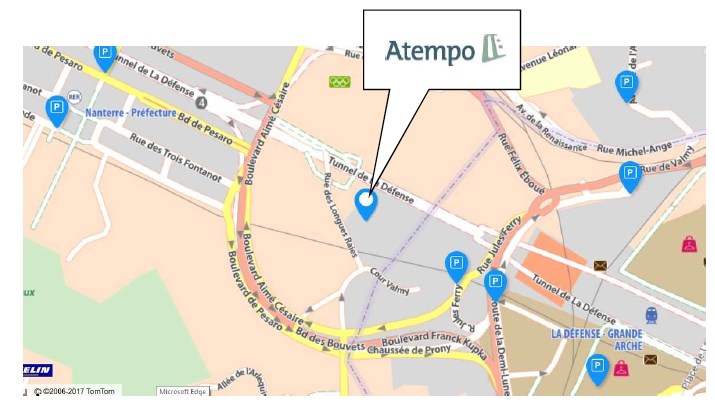 Plan d'accès Centre de Formation, Paris