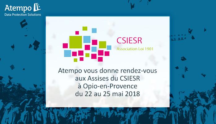 Atempo participe aux Assises du CSIESR 2018
