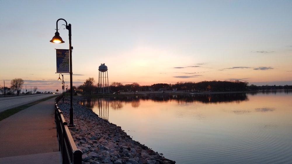 A sunset in Big Lake Minnesota. A beautiful scene in Minnesota's 6th congressional district.
