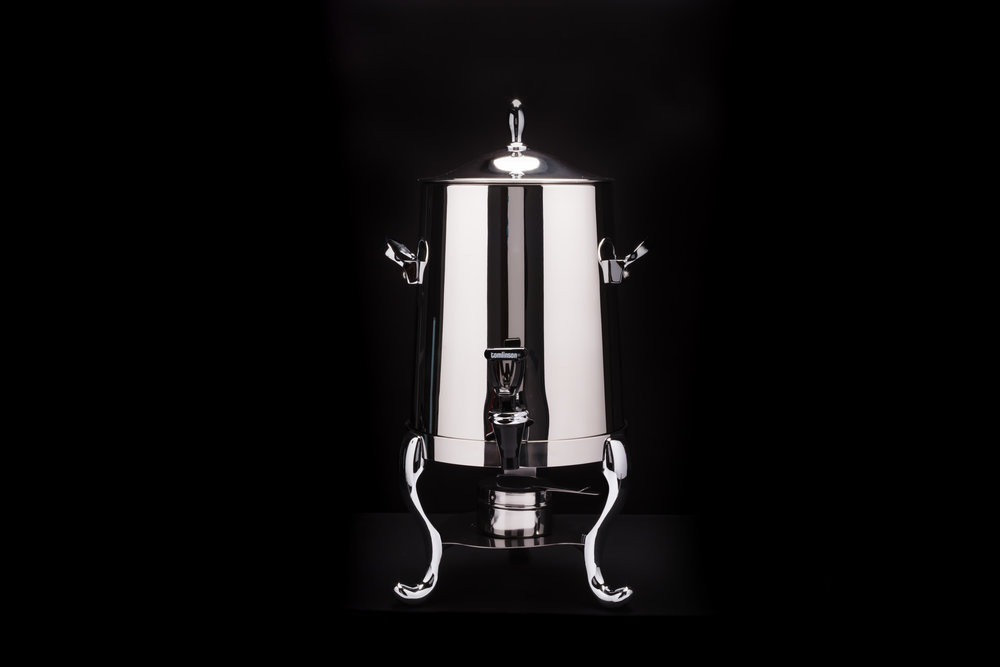 Polished Stainless Steel Samovar - 55 cup