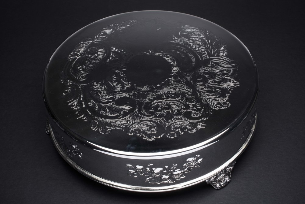 Polished Cake Plateau - 14""