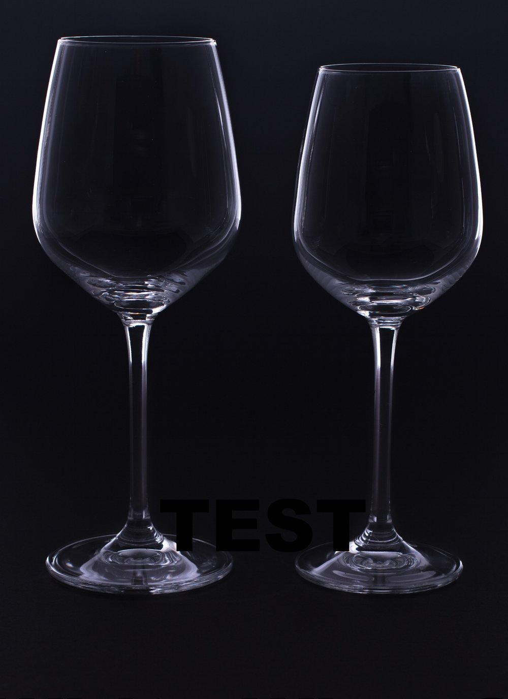 Red and White Wine Glasses - Crystal