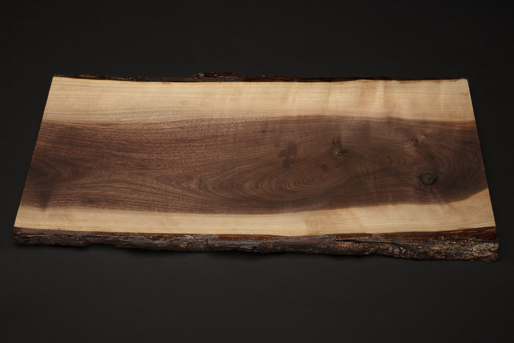 "Live Edge Wood Platter (approx 21"" x 10"")"