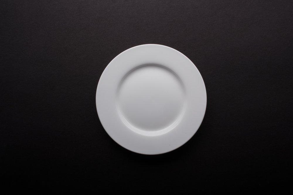 """Bone White China 6"""""""