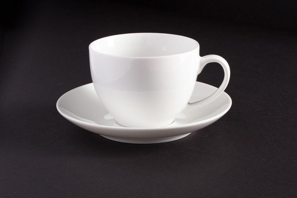 Bone White China Tea Cup and Saucer