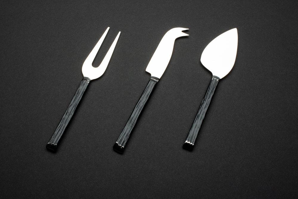 Cheese Knife Set - Dark Pewter