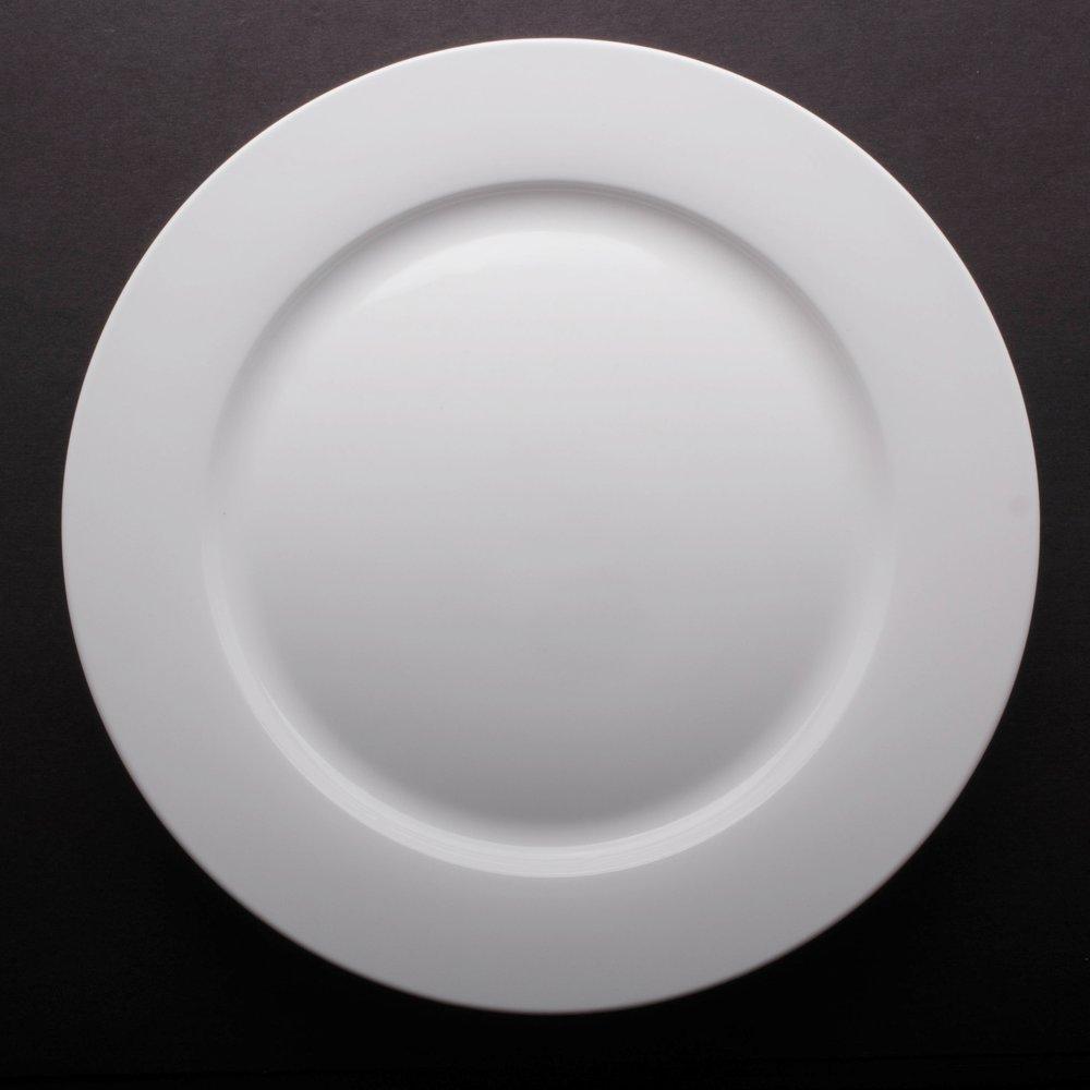 "Bone White China 10.5"" (12"" Over-Sized Available)"