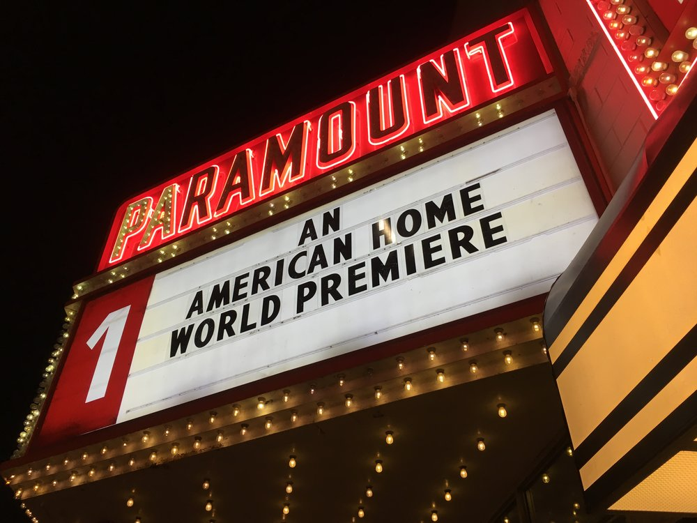 The film's opening at the historic Paramount Theatre in Kankakee, Illinois.