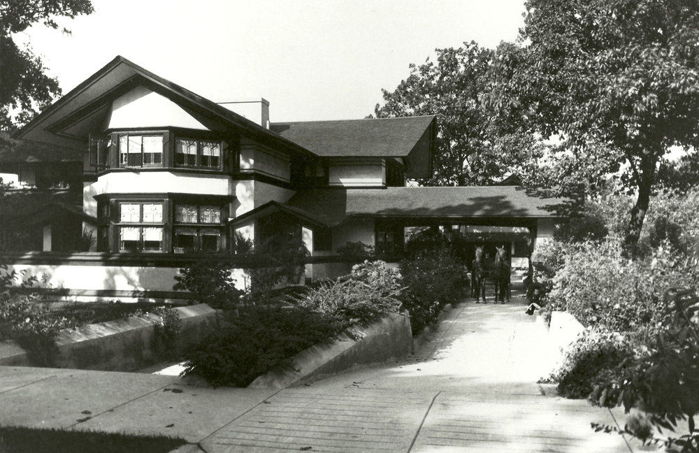 The B. Harley Bradley House in the 1900's.  Courtesy Kankakee County Museum