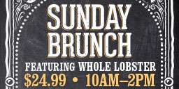 Sunday Brunch at Firesides - Delicious brunch buffet featuring whole lobster served every Sunday in Firesides for only $24.99!