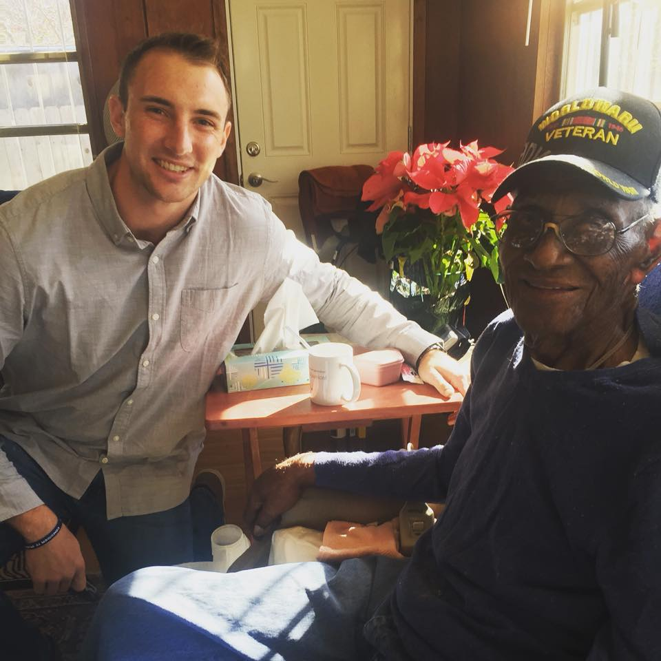 Scott is pictured with America's Oldest Veteran, Richard Overton who is featured in Episode 10