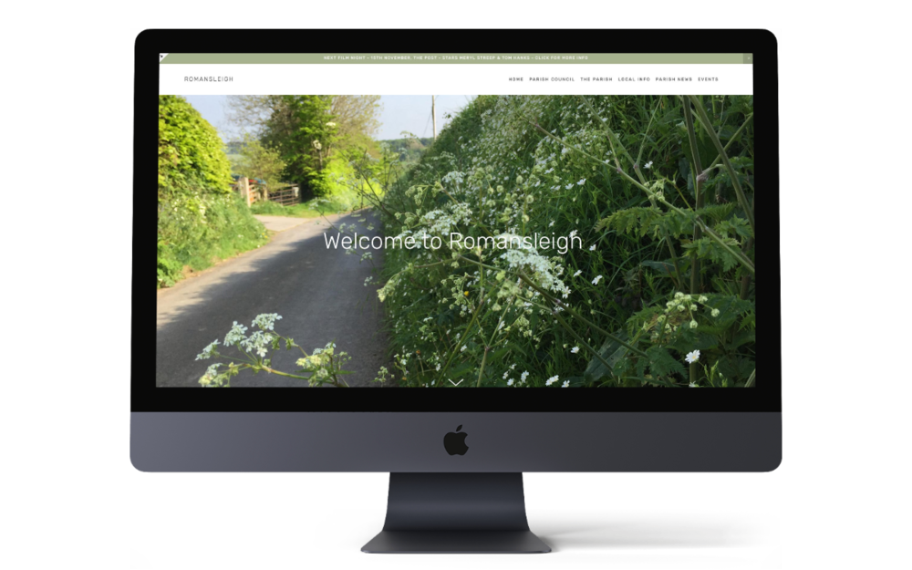 Romansleigh Parish Council -new responsive and secure Squarespace website coming soon