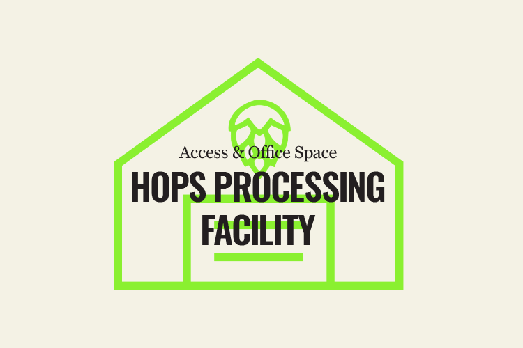 Andrew Cox from Greenmont Hopworks announces that they will offer hop processing services for the 2019 harvest season. Located approximately 15 miles southeast of Charlottesville in Keene, Virginia, services will include: picking, drying and baling.  This facility that will be available to Co-op members in the near future. The facility will dry and process the hops in its 10,000-square-foot facility mainly from July through September.