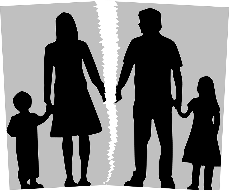African-american Marriage Couples Silhouettes Counseling For