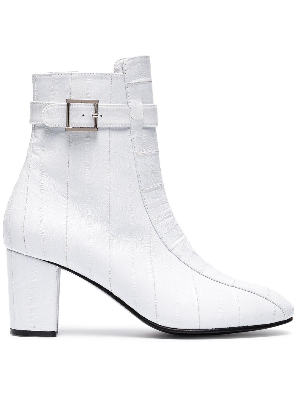 NEWBARK White Leather Sabrina 75 Boots $1,104,  Farfetch.com