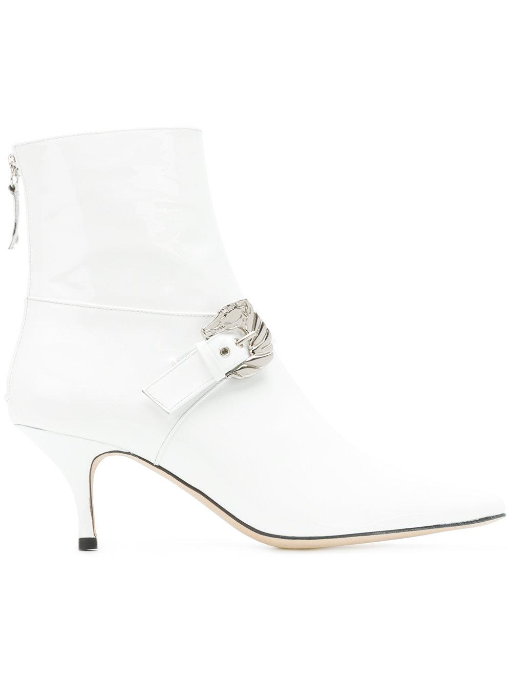 DORATEYMUR  Buckled Ankle Boots $555, Farfetch.com