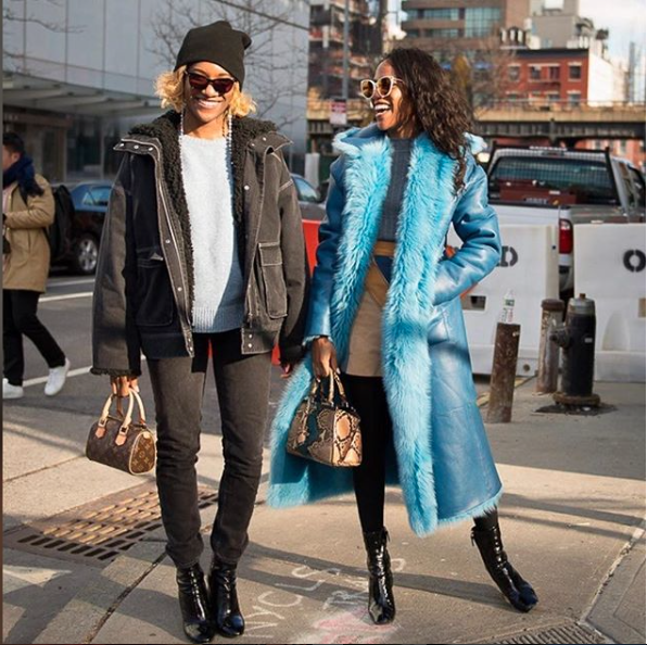Sisters Danielle and Gabby Prescod ( @danielleprescod  &  @gabbyprescod  )chose mini Louis Vuitton and Fendi bags respectively to take on the show!