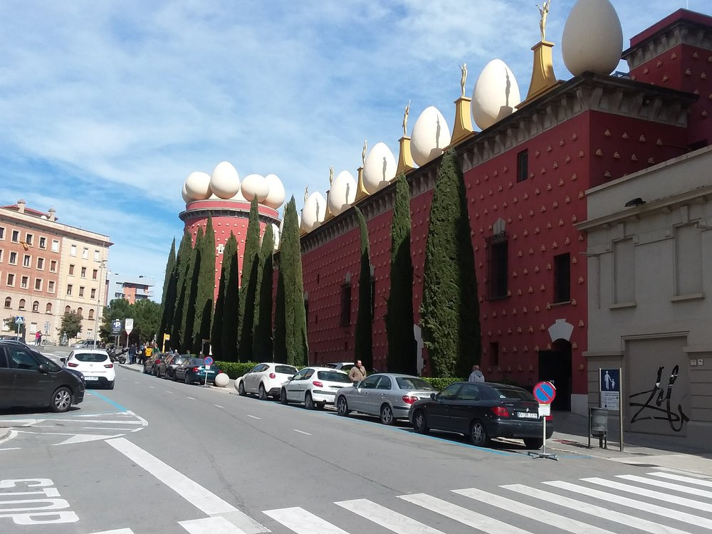 Dali Theatre and Museum Figueres Salvador Dalí  in Costa Brava Spain