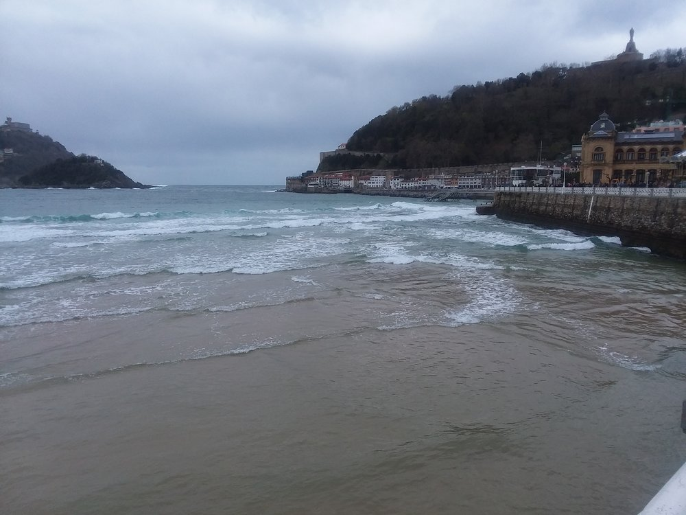 The beach at San Sebastian