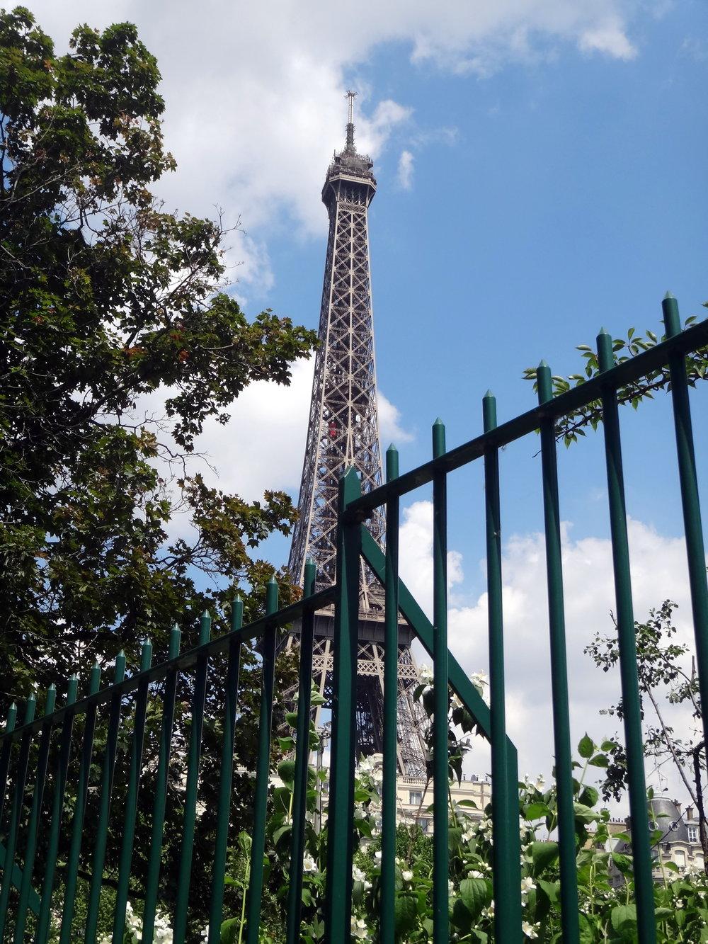 photo credit: Carolyn Marquardt  / Eiffel Tower through the gates