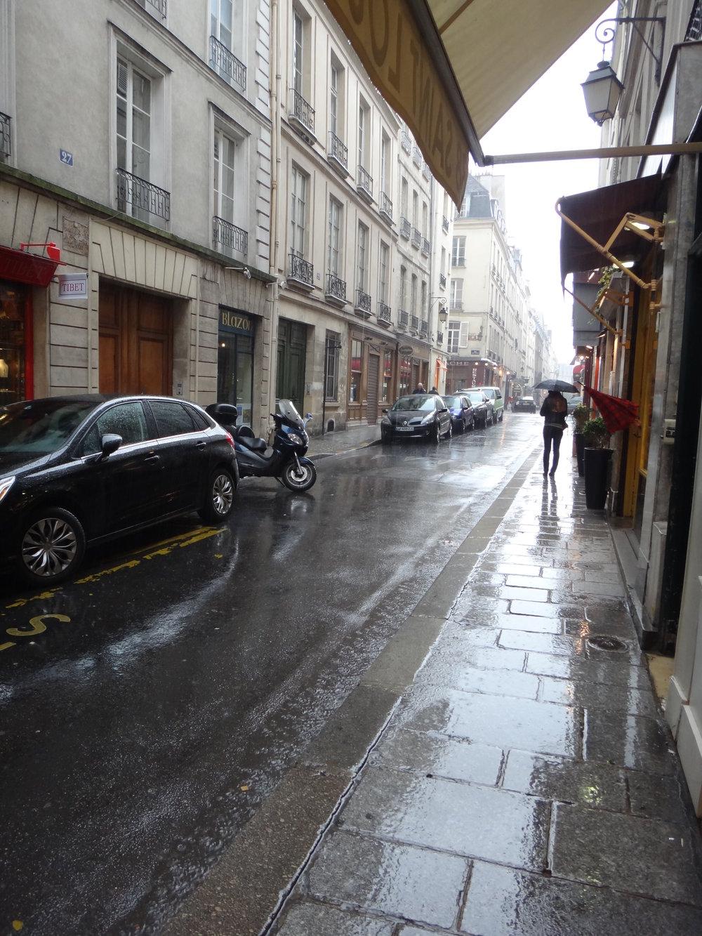photo credit: Carolyn Marquardt  / Rainy street in Paris