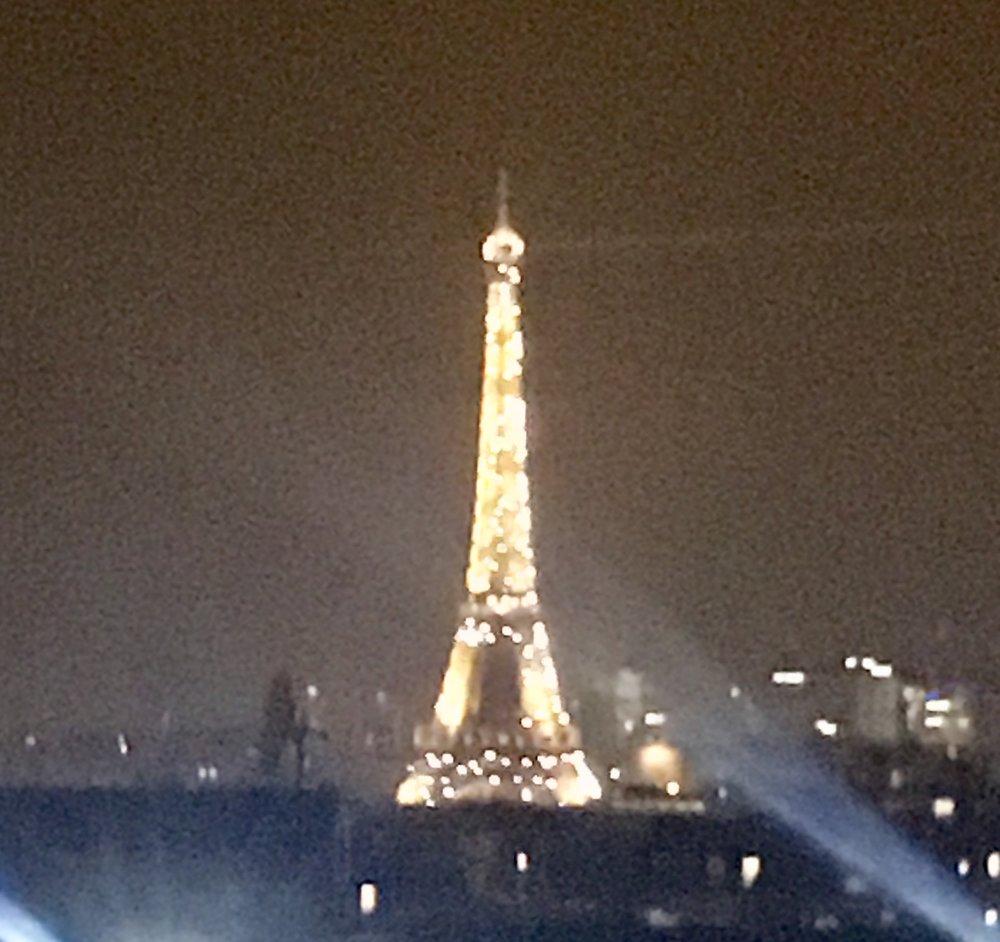 Paris at night, via our hotel room