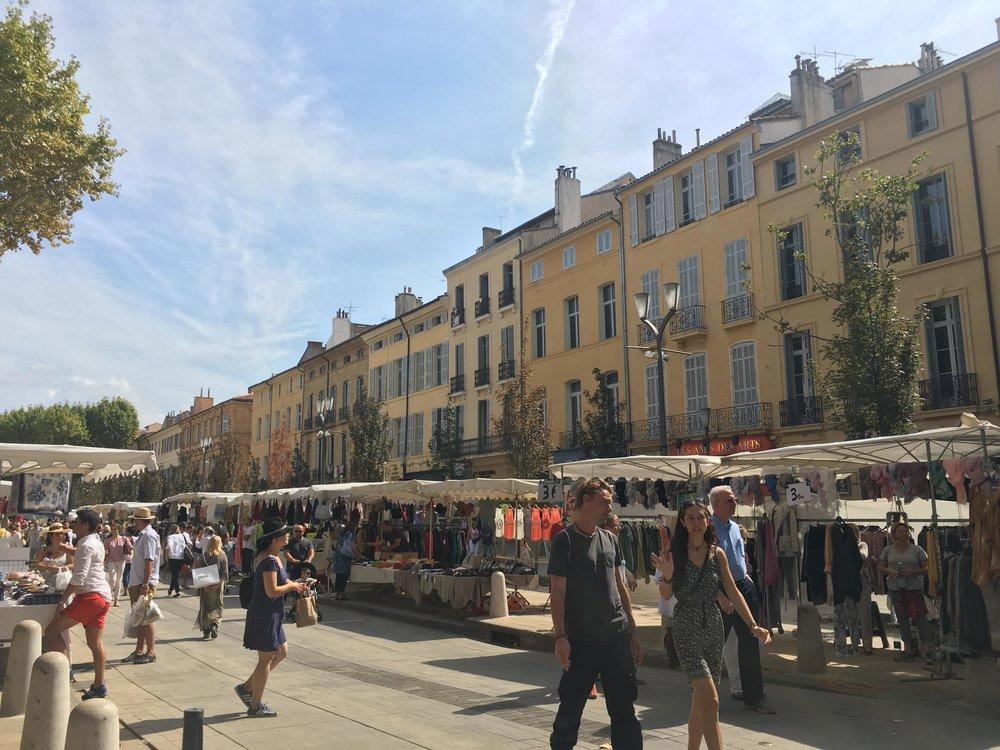 Aix's Saturday open market