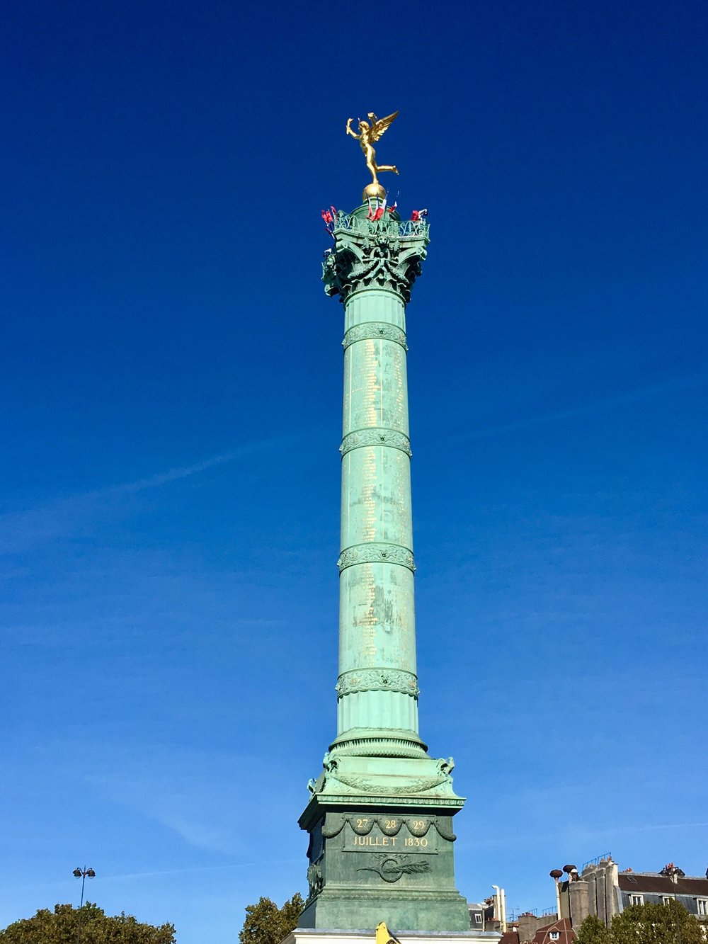Place Bastille: the end of this road anyway