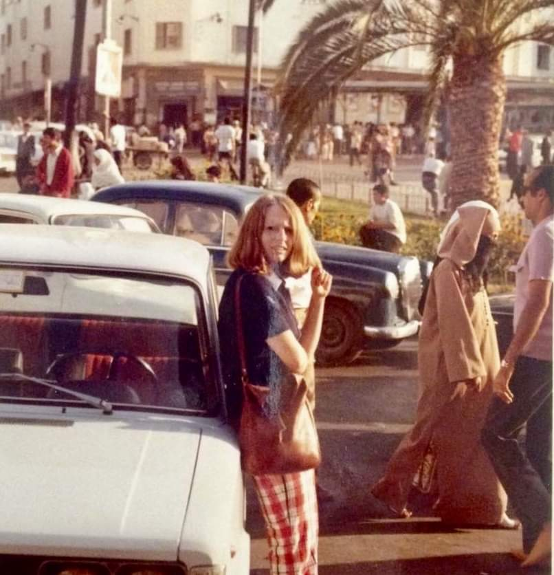Carol in Tangiers, 1973. It was supposed to be just a vacation, but shortly had become a honeymoon for her and Mike.