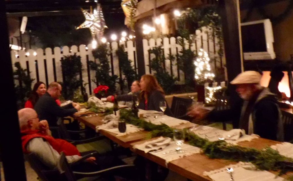 Christmas dinner is outdoors here in southern California