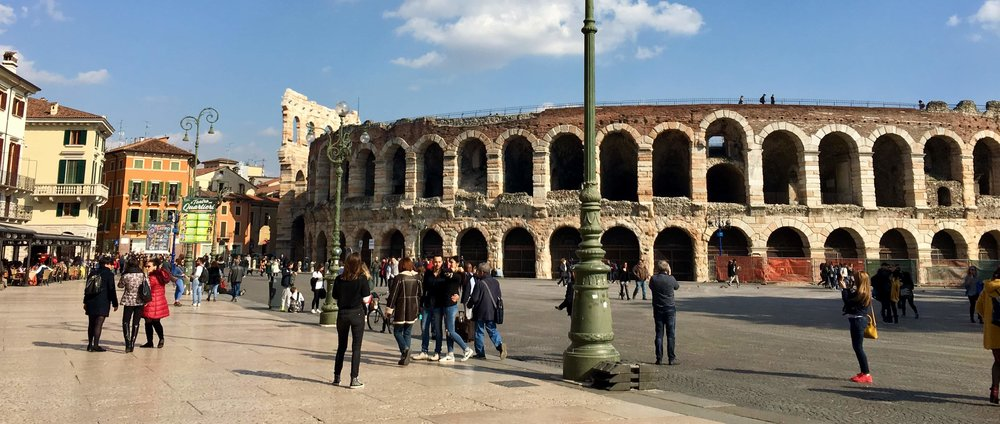 Verona' s colosseum . You've seen one, you've seen 'em all