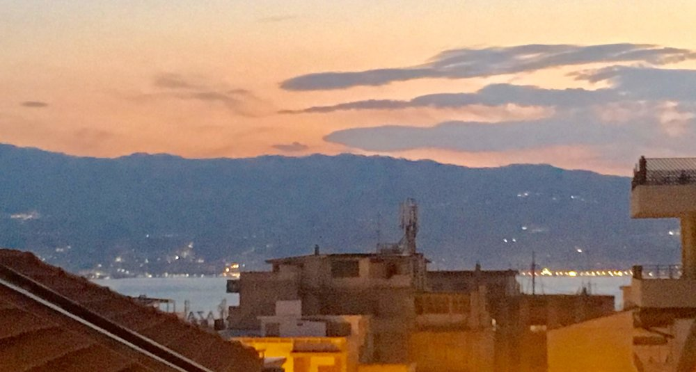 Sarah Palin might be able to see Russia from her house, but we could see Sicily from our balcony