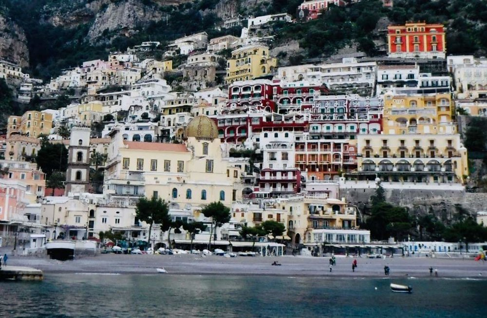 A view of the Amalfi coast available only from the ferries that happily began running again the day we arrived in Salerno