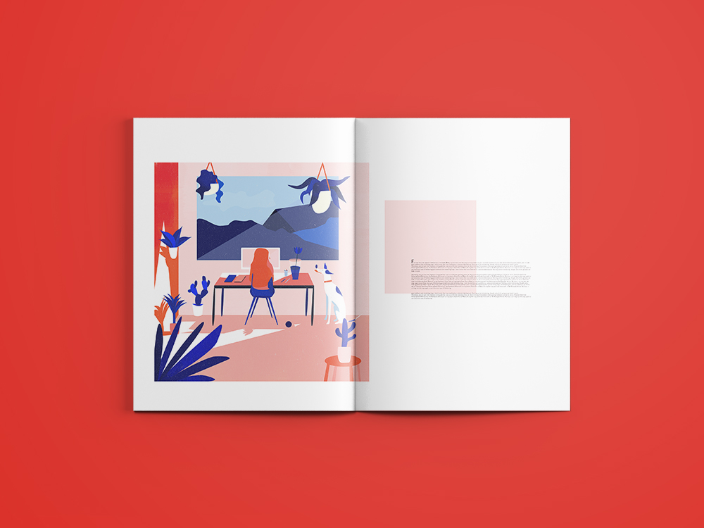 OMG! - One of my illustration you can find in Art magazine.The theme was how to work as a freelance writer.