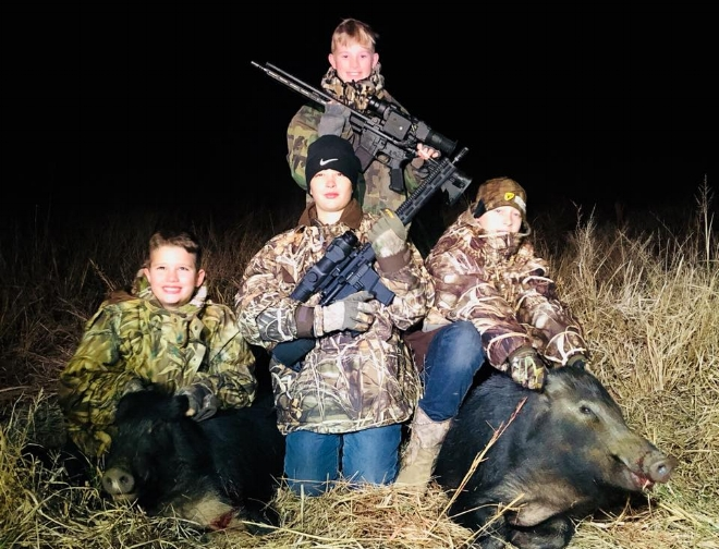 Bryan Payne   Extremely fun, safe and enjoyable for all ages. Jerrud and Nathan are class acts and the equipment they have is top notch... We will be back! This is a great and affordable hunt for corporate hunts as well. Hope to take some customers with Jerrud soon. I cannot express how fun these hunts are, from just riding and being able to see all of the different critters on the screen while you ride, to the actual shooting part... it's a great experience. I've hunted with dogs, but this is a different kind of hunt. It's not physically challenging, allows both young and old to do these hunts with ease. He has PLENTY of land to hunt in great areas for hogs. First class operation Jerrud has developed. Can't say enough good things about these guys and their hunts. You just have to go to understand how fun and entertaining these hunts are. Thanks again Jerrud and Nathan for a great experience and a great hunt.