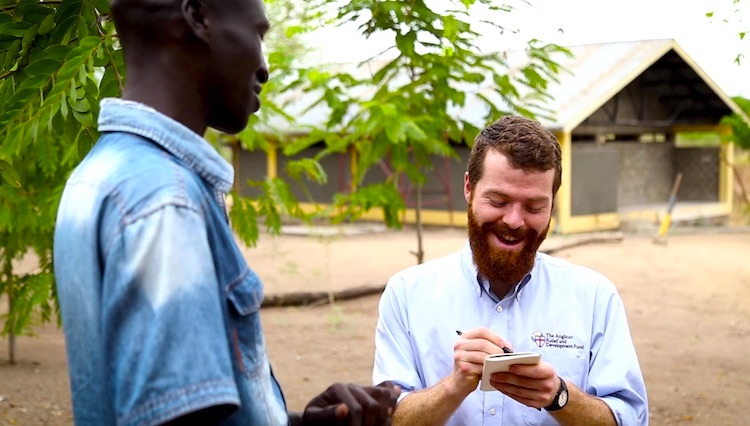 For every project, an ARDF researcher travels to visit our partners to assess sustainability, monitor progress, and capture testimonies. Here former Communications Director, Charlie Treichler takes notes about a project at the Gambella Anglican Center in Ethiopia.