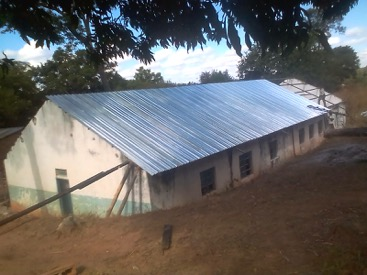 The new roof is a huge improvement, making these classrooms once again usable. The next phase of the project will complete the interior of the building and build a demonstration farm.