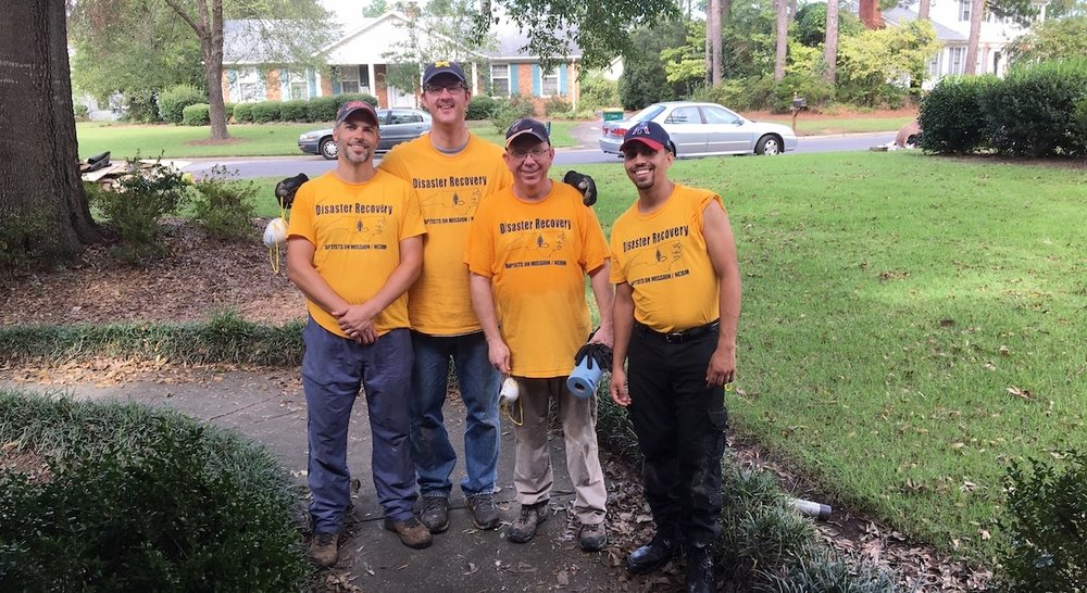 Over the weekend, a team from Resurrection Church in Hope Mills, NC began relief work in Lumberton, NC.