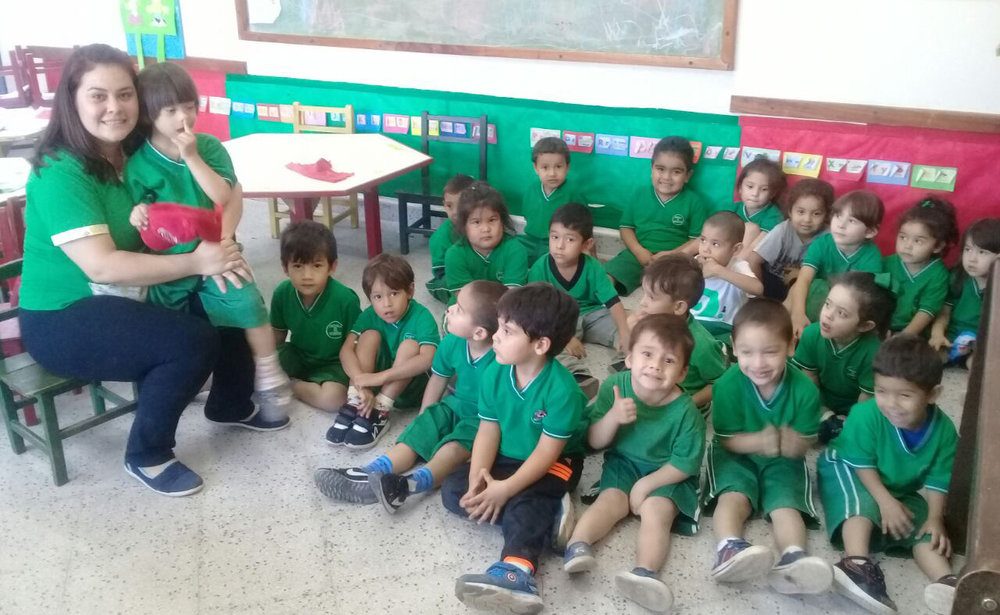 Children at the expanded Pepe Semillita Preschool
