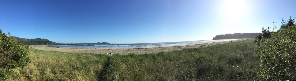 Cape Alava, Washington. The starting point of the bike trip.