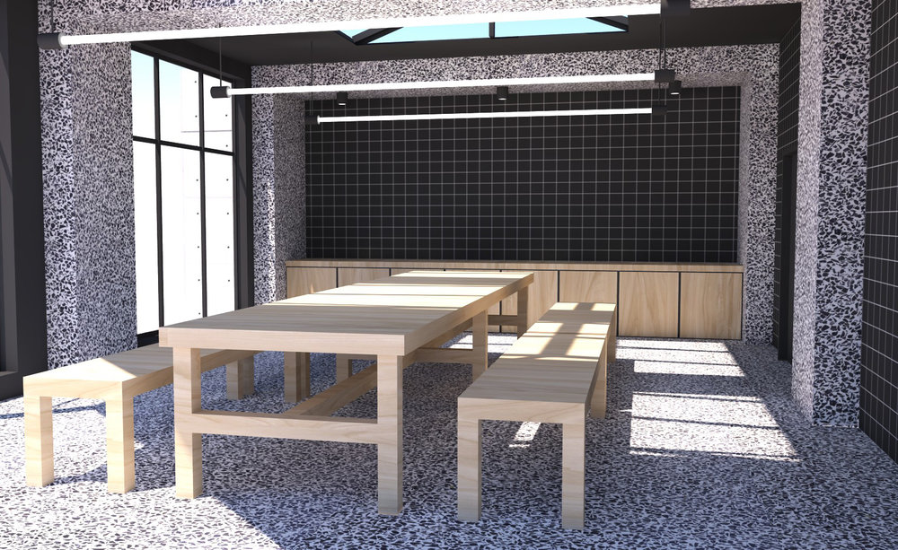 Interior rendering of the conference room
