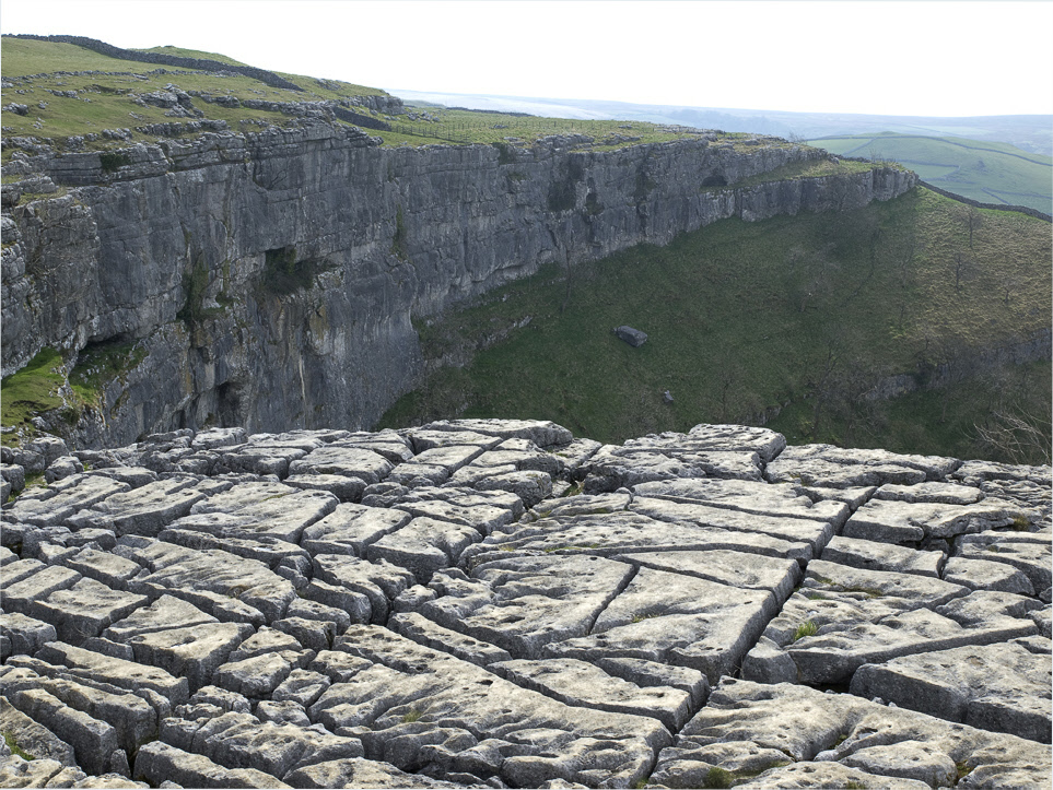 Limestone pavement at Malham Cove