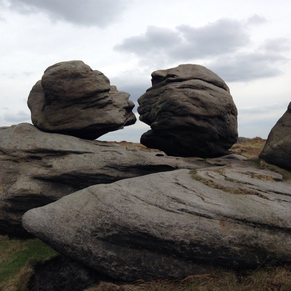 Wain Stones (or 'Kissing Stones') near Pennine Way at Bleaklow Head